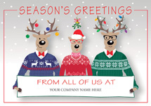 Happy Sweater Crew Holiday Logo Cards